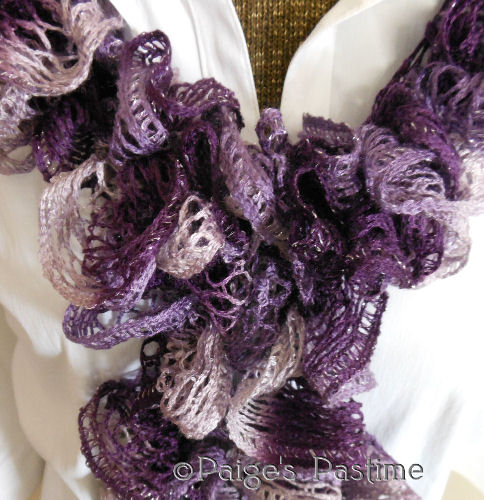Ruffled Crochet Scarf