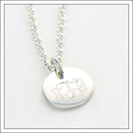 Sterling Round Pendant