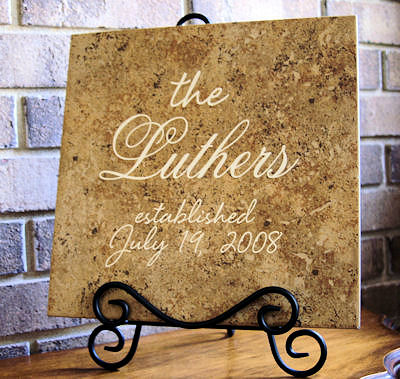 Personalized Wedding Tile