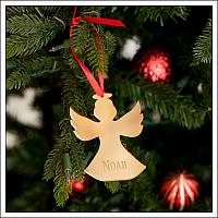 Mirrored Acrylic Angel Ornament