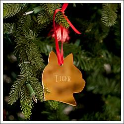 Mirrored Acrylic Pet Ornament