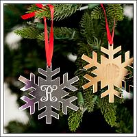 Mirrored Acrylic Snowflake Ornament