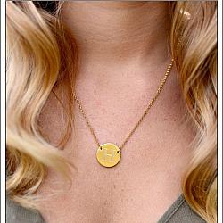 Contemporary Circle Necklace