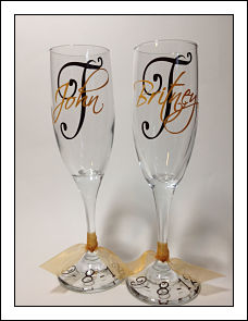 Wedding Champagne Toasting Glasses