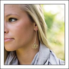 Interlocking Monogram Dangle Earrings
