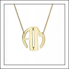 2-Letter Circle Monogram Necklace