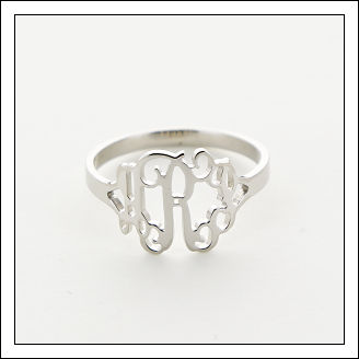 Filigree Monogram Ring