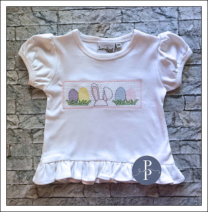 Easter Faux Smocked Top