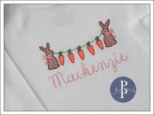 Easter Bunnies with Carrot Banner