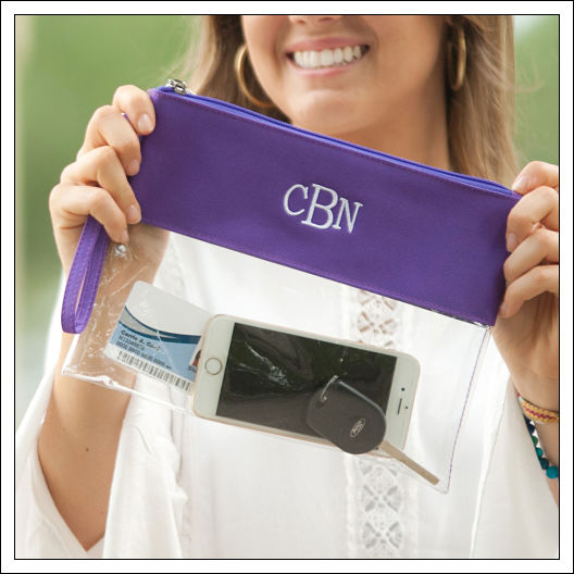 Clear Game Day Wristlet/Crossbody
