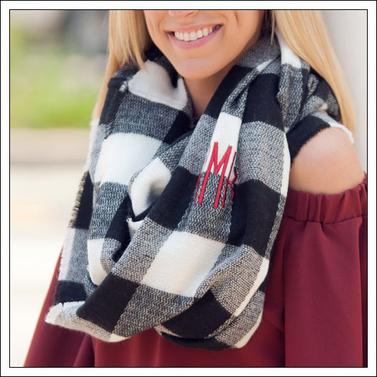 Black and White Londyn Infinity Scarf
