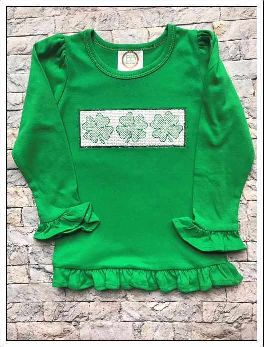 St. Patrick's Day Smocked Shirt