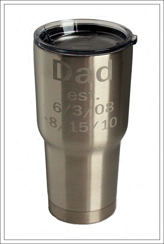 30 oz. Stainless Father's Day Tumbler