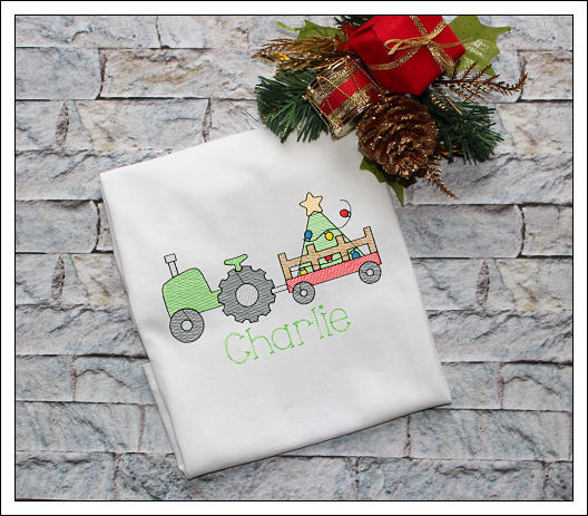 Christmas Tractor and Tree