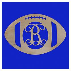 Football Wooden Monogram