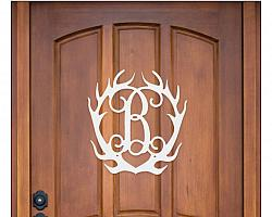 Antler Wooden Monogram