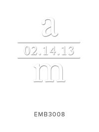 Embossing Stamp EMB3008