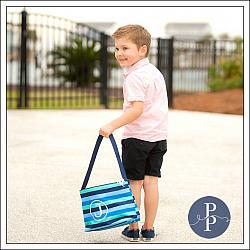 Blue Stripe Easter Bucket
