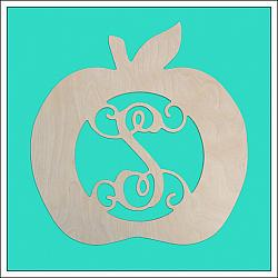 Apple Wooden Monogram