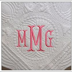 Monogrammed Baby Quilt