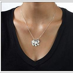 Mom's Baby Feet Necklace