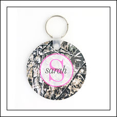 Pink Camo Acrylic Key Ring
