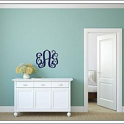 Interlock Wooden Monogram